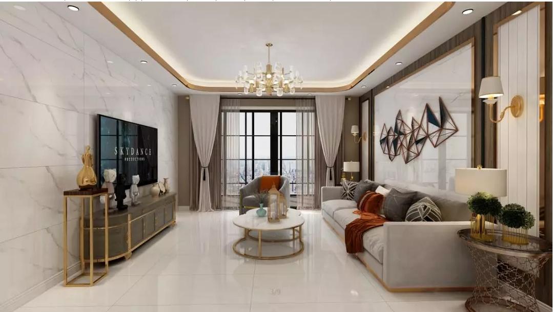 用品德风尚陶瓷通体瓷抛大理石铺贴客厅,为你的家营造