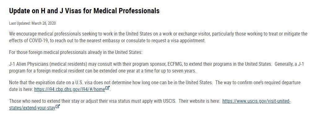 真的吗?美国呼吁全球医生赴美支援!