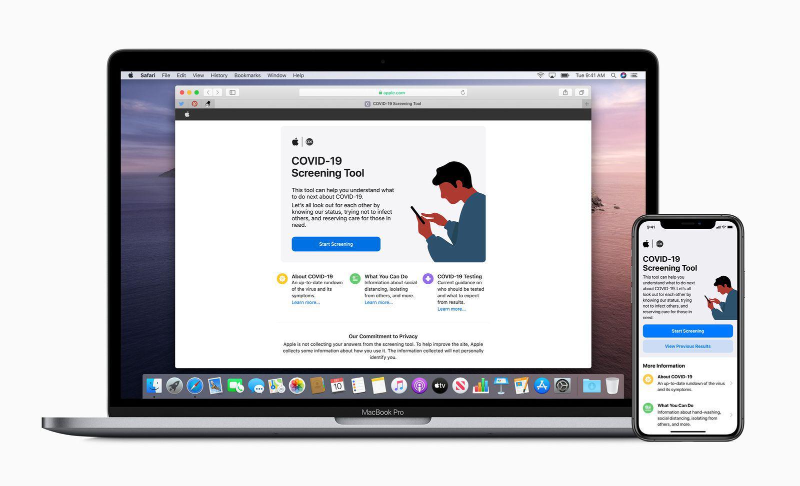 苹果和美政府合作发布COVID-19网站和应用