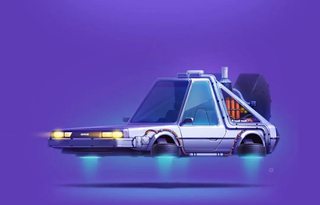 乌克兰设计师/插画师 ServinSeidaliev名车车卡卡通设计