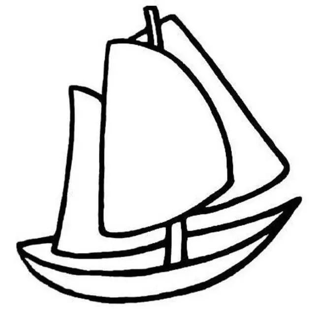 帆船简笔画 简笔画