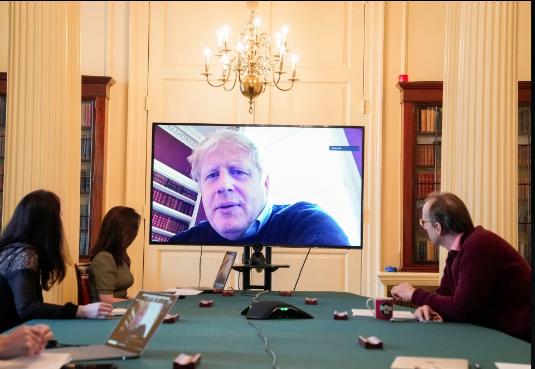 约翰逊确诊后远程主持会议 英民调:其支持率创新高_中欧新闻_欧洲中文网