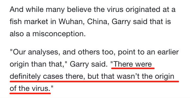 美国医学专家接受ABC专访:新冠病毒起源于武汉华南海鲜市场是错误观点