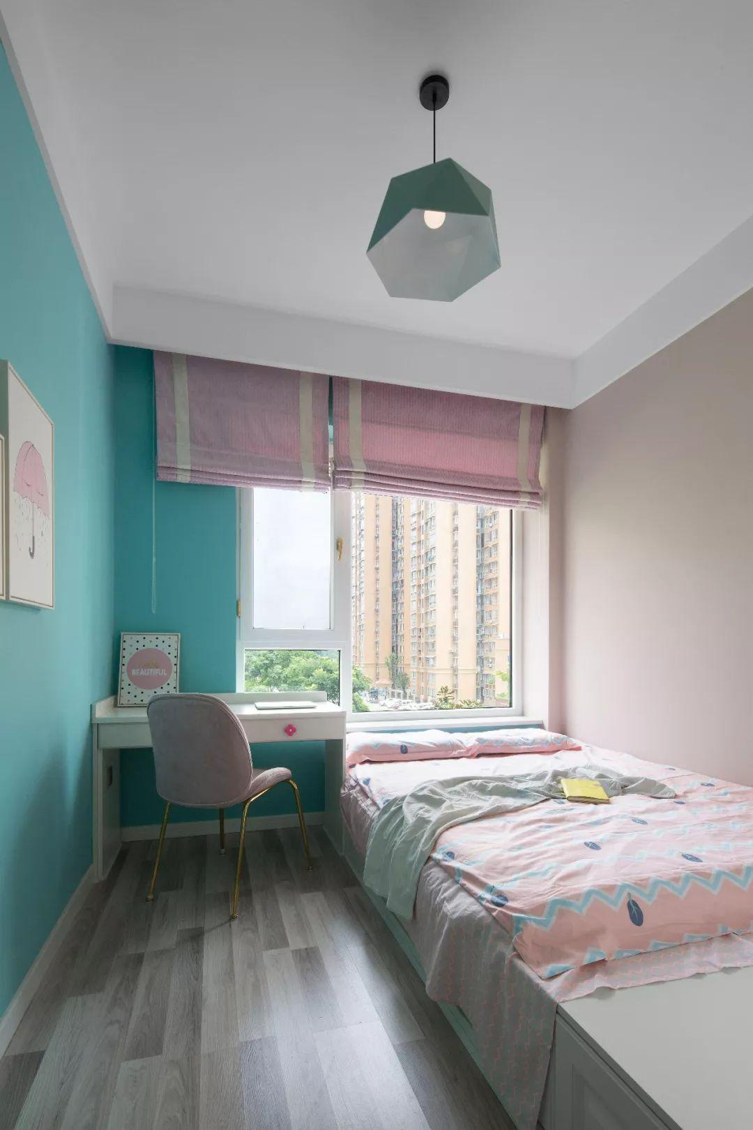 【交换空间】107平的美式风三居室,好喜欢这款森系电视背景墙