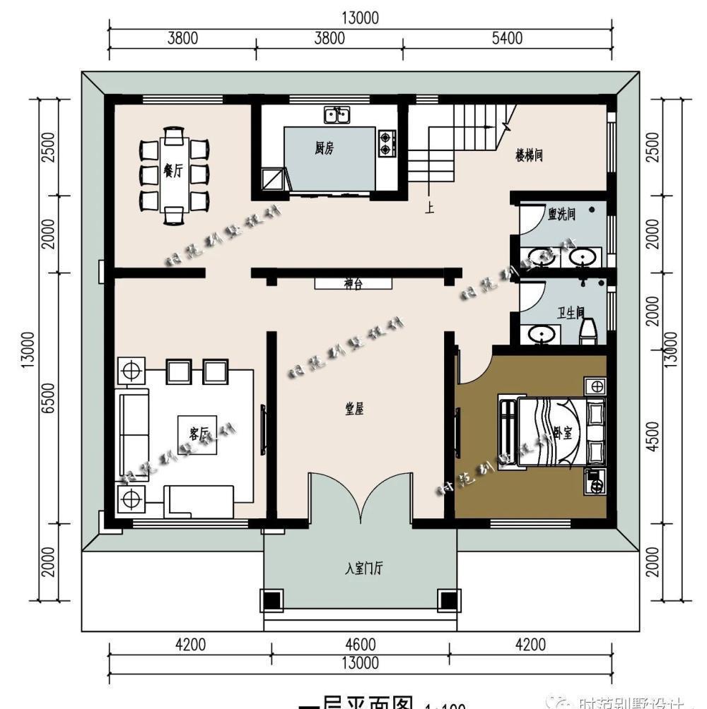 楼梯下方的空间可以设计为储藏间被有效利用.
