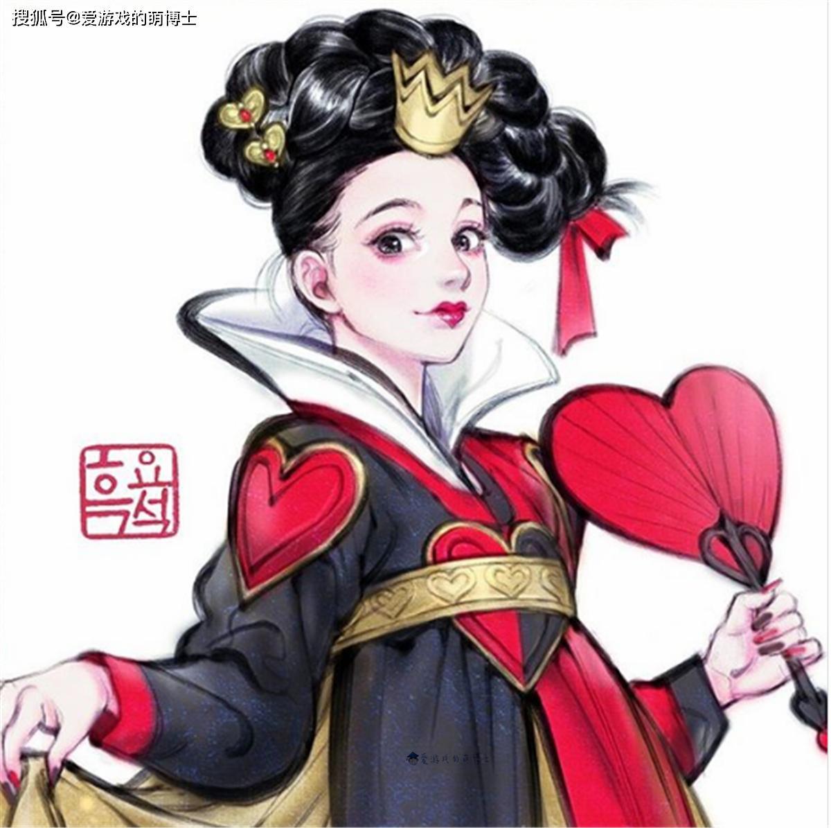 迪士尼动画反派角色变成韩服美女,会是什么样子?