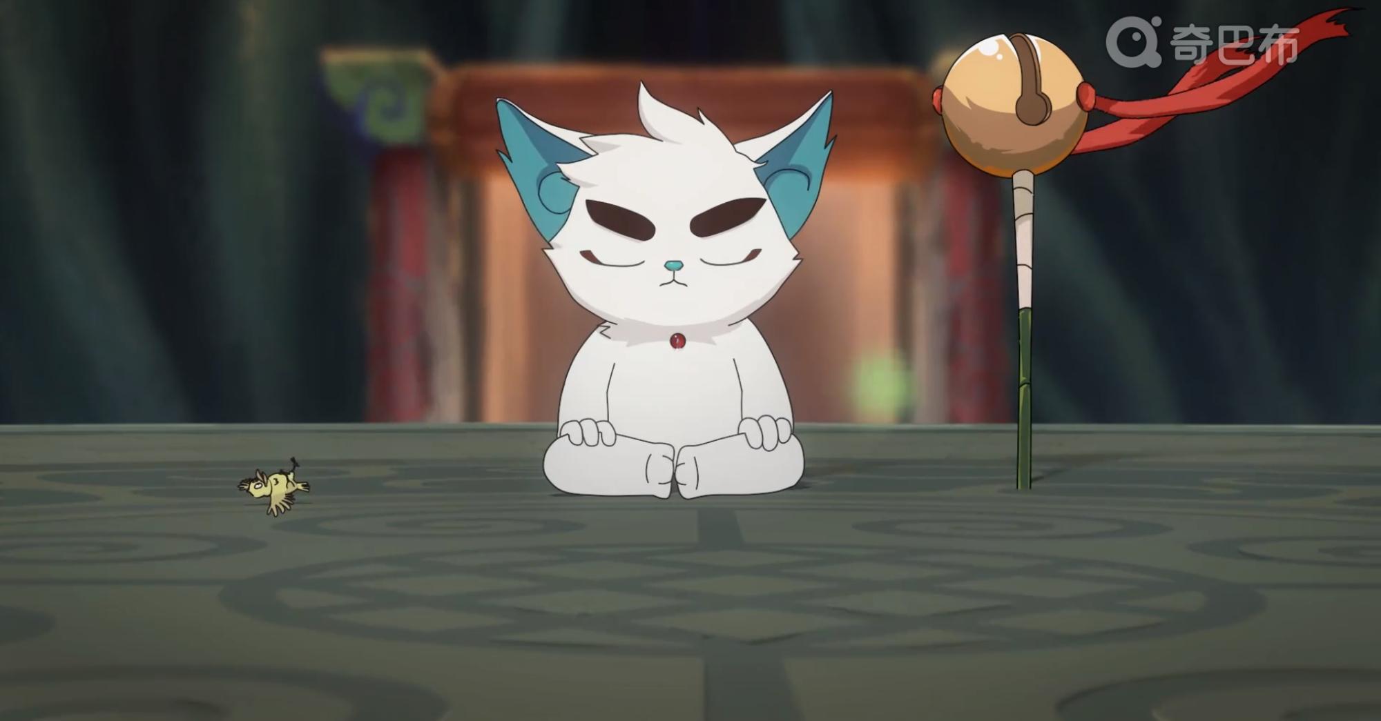 京剧猫白糖黑化拟人图