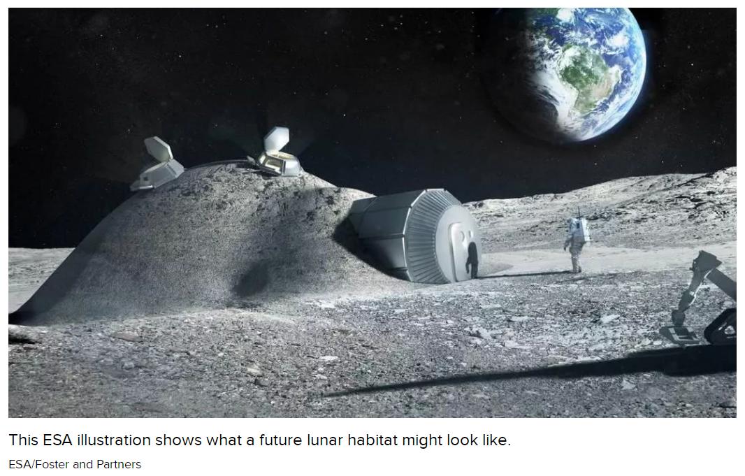 外媒:科学家用尿液和月球土壤打造3D打印版月球庇护所