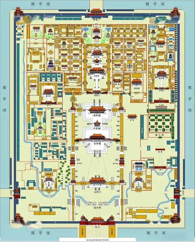故宫整体建筑平面图