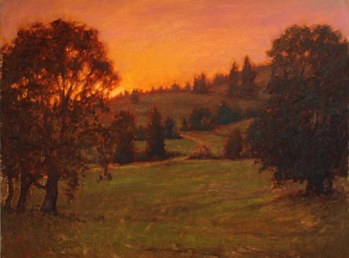 神秘的光线和氛围,他的风景油画不一样的美