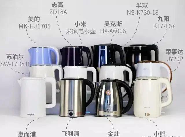 12款电热水壶对比:11款仅