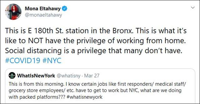 """纽约穷人被迫挤地铁去工作,""""死就死吧"""""""