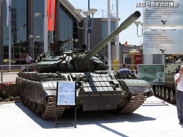 塞尔维亚军工业崛起,282辆魔改T55交付巴铁,专门对付印度T72