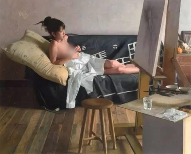日本画家画少女人体,逼真程度不输冷军