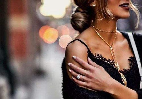 项链与脖颈类型、佩戴场合的搭配