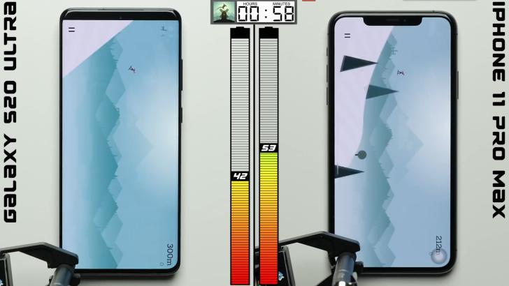 S20 Ultra vs. iPhone 11 Pro Max 续航对比