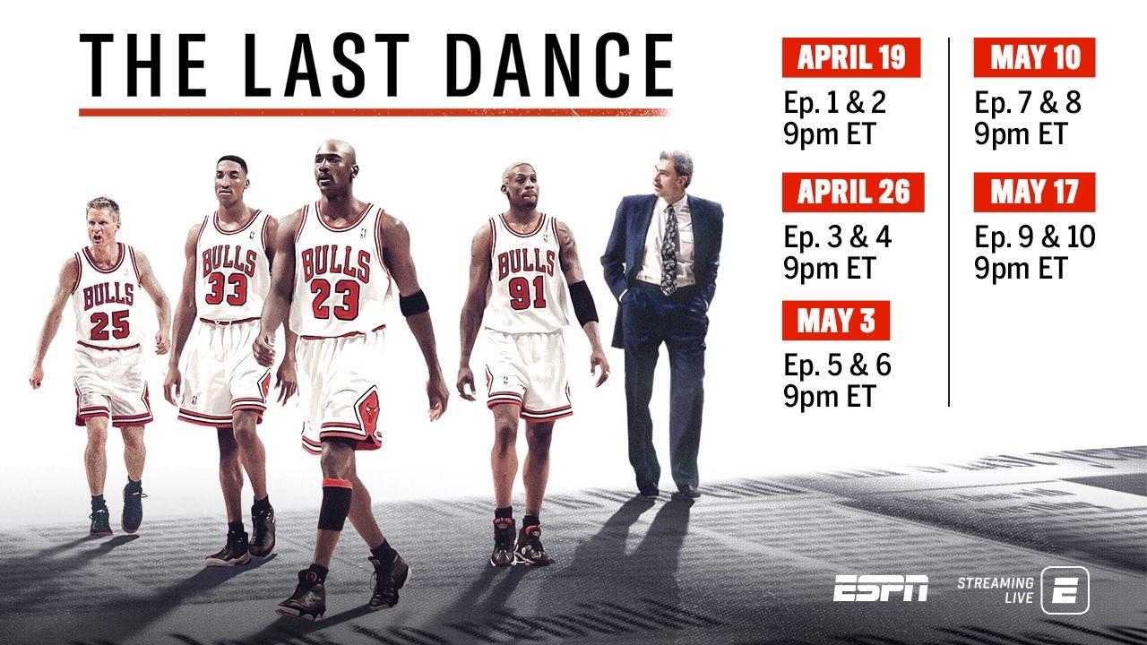重磅福利!ESPN将乔丹记录片提前两月 于4月19日上映