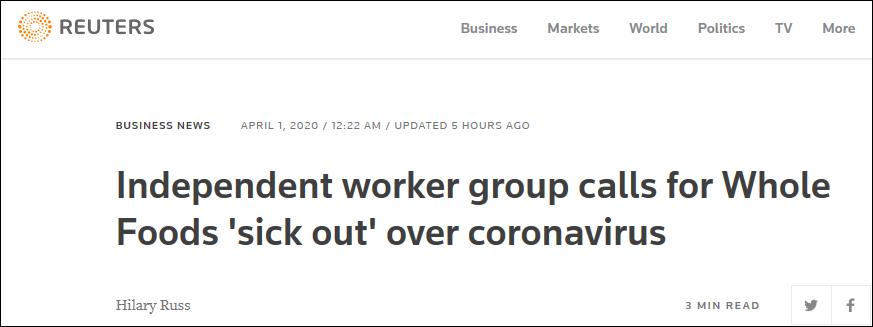 亚马逊员工罢工:同事确诊新冠还要求我们继续工作