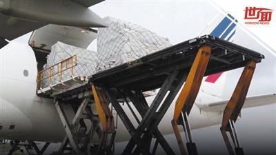 中国800万只口罩抵达法国巴黎