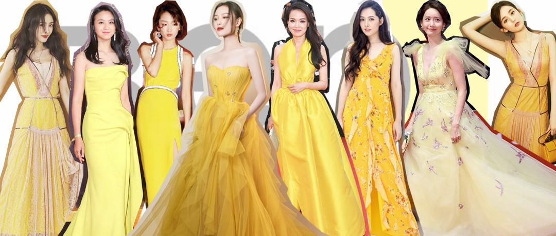 原创             当44岁舒淇和41岁汤唯都穿起淡黄的长裙,谁赢?