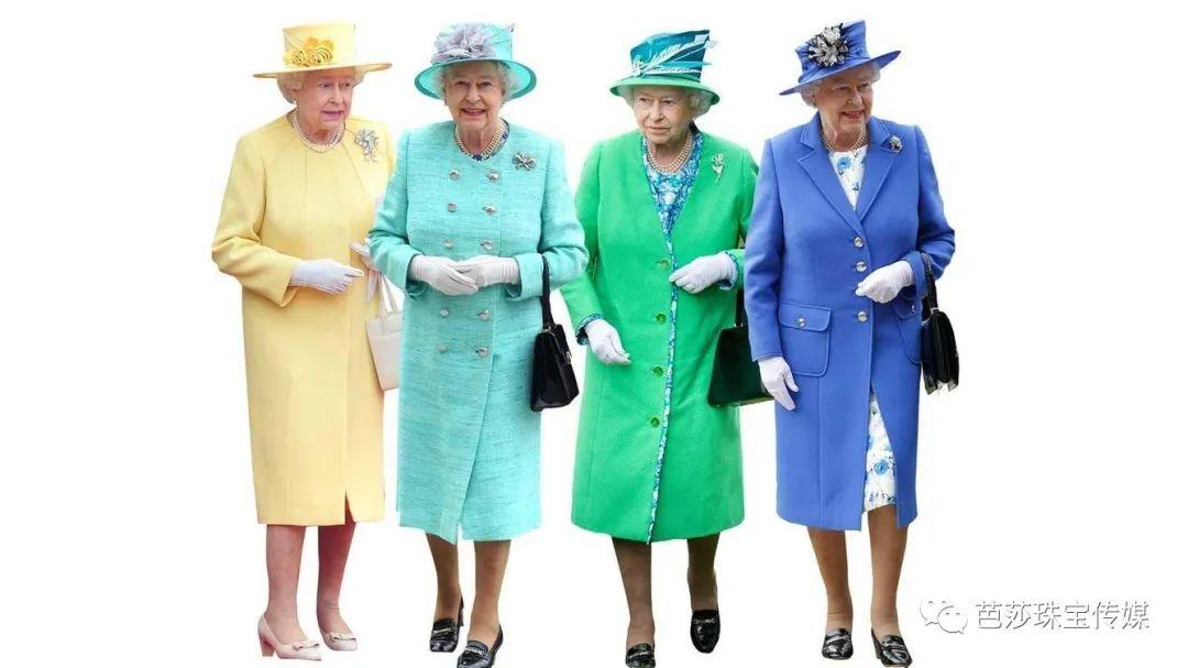 英女王的珍珠太有戏,难怪每一套彩虹都有得搭