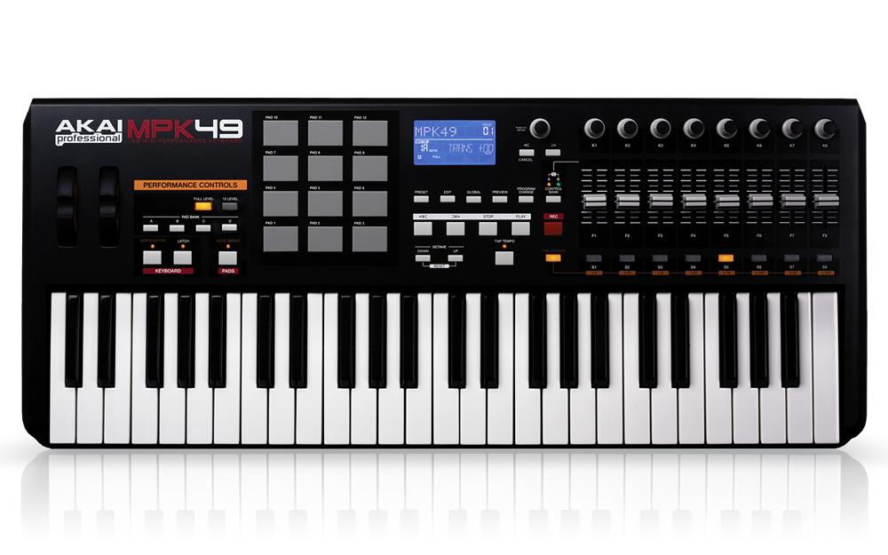 AKAI专业MPK49 49键USB/MIDI键盘控制器