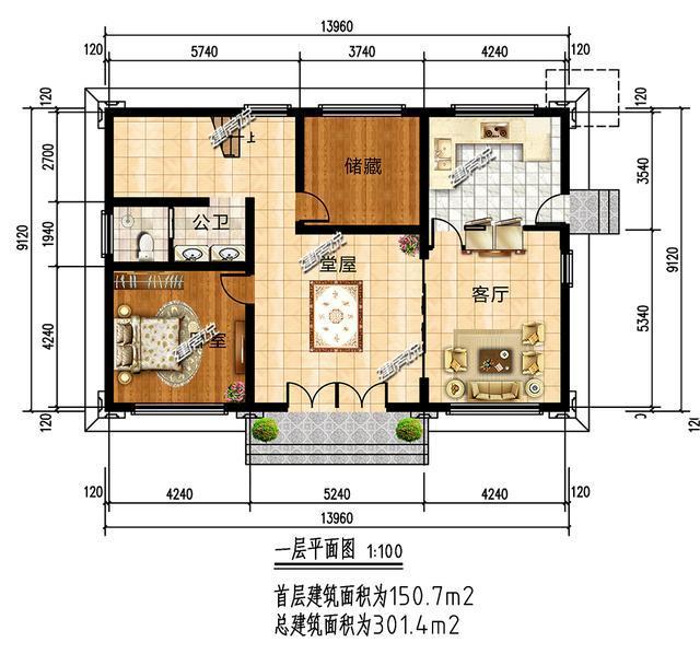 4平方米,建筑高度9.66米.图片