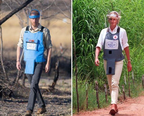 时尚-追随戴安娜的脚步!22年后哈里重走雷区,冒着生命危险致敬母亲