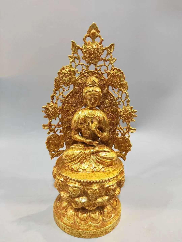 一件唐代鎏金菩萨坐像