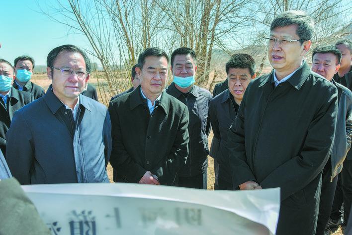 孟宪东王旺盛专题调研阴河上游生态环境综合治理工作