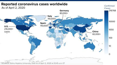 一周之内翻了一番!全球确诊病例突破100万例