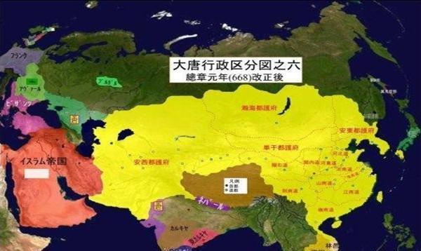日本和韩国历史教科书上唐朝地图是怎样的