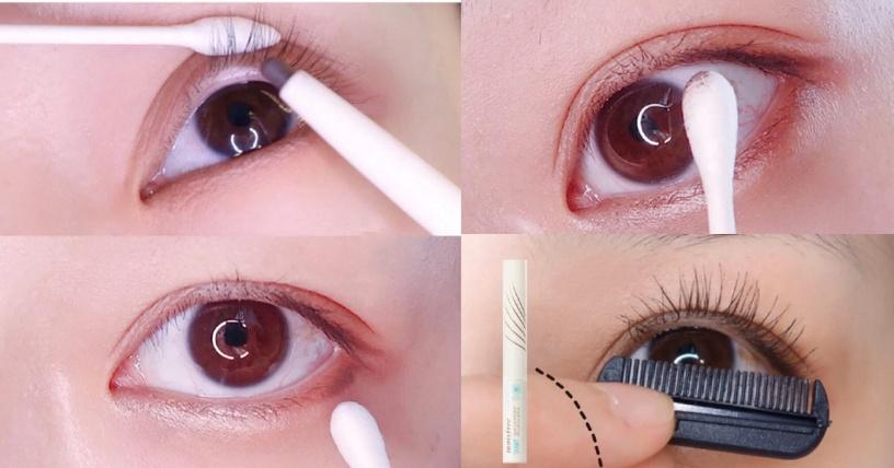 日妞空气感眼妆,初学者随便画都好看,还能矫正下垂眼型与肿泡