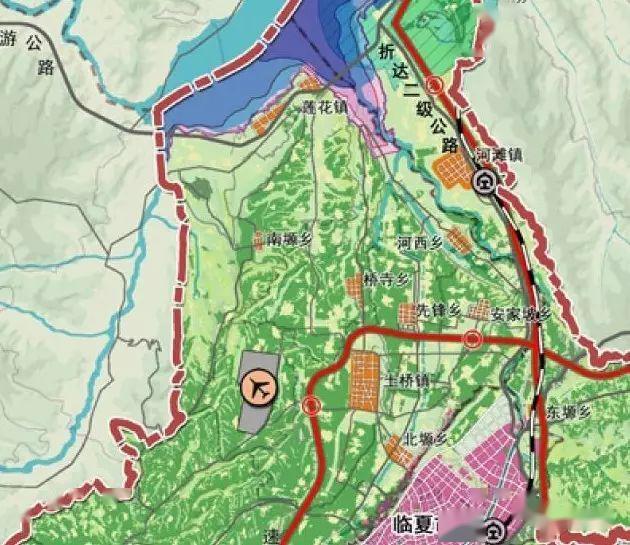 临夏县北塬坡头乡4c机场用地图