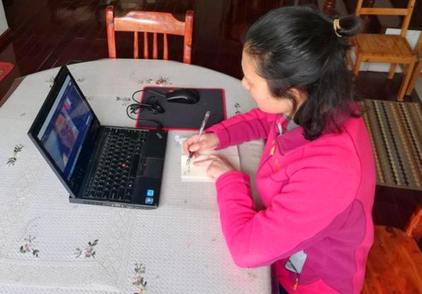 湖北荆门市实验小学数学教师与特级教师徐长青团队开展了线上教研活动