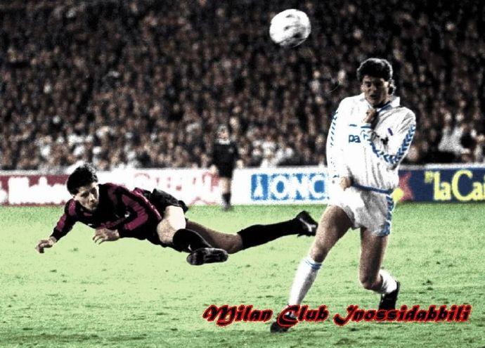 AC米兰队史今天:1989年欧冠半决赛首战巴