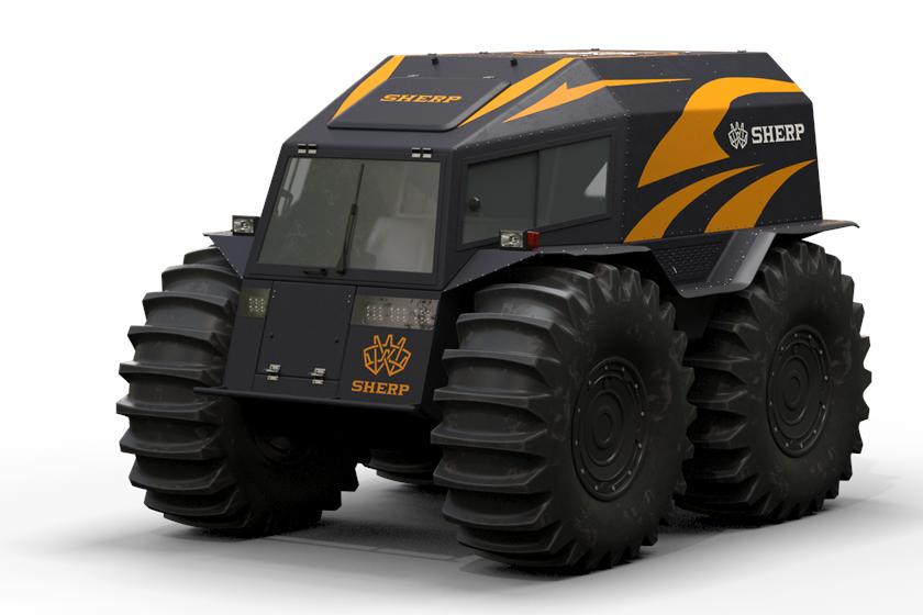 一群专业的全地形车,包括《速度与激情8》中的Ripsaw EV2履带车