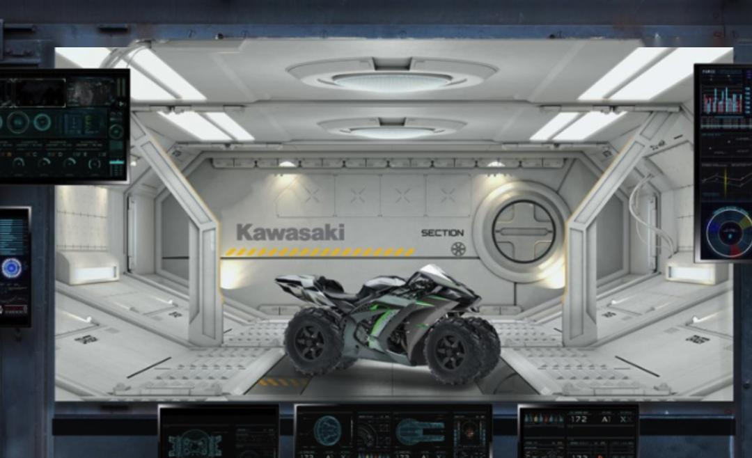 """川崎正在研发能上天的月球版""""H2""""摩托,还是四个轮子的"""
