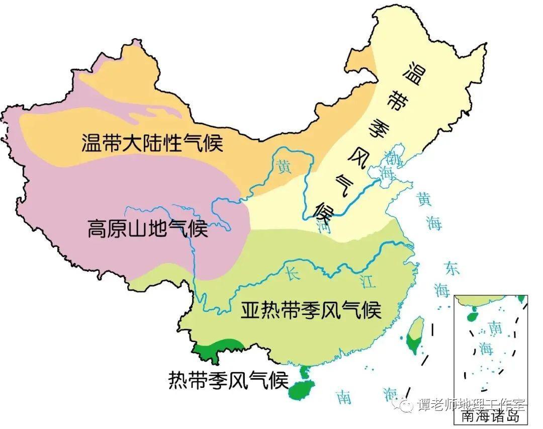 初中地理素材:亚洲气候图- 豆丁网