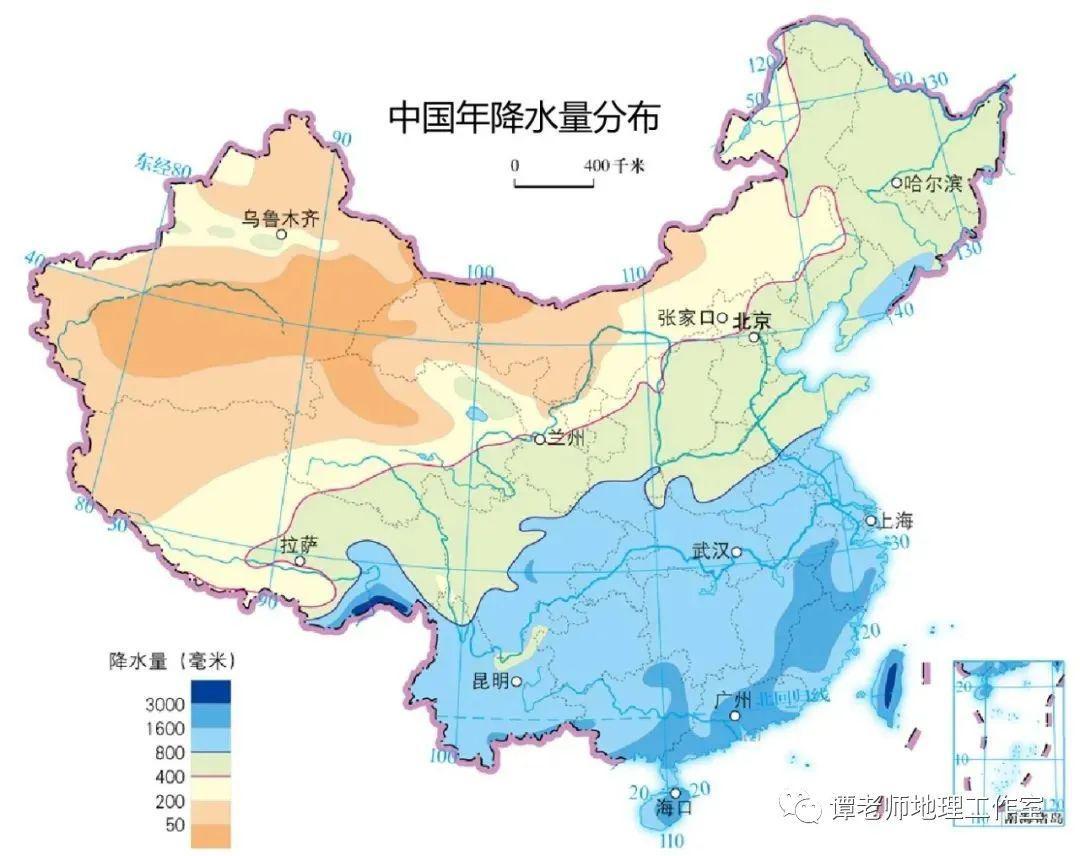 亚洲气候类型图(自西向东依次为)??