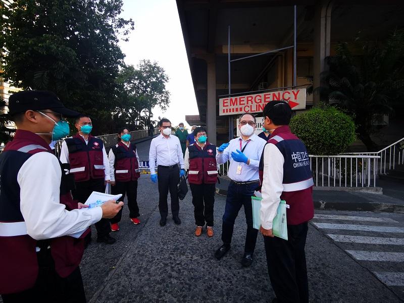 中國抗疫醫療專家組走訪菲華社會最大醫院并現場交流指導