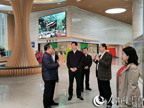 自治区党委副书记孙大伟率队到高峰森林公园调研