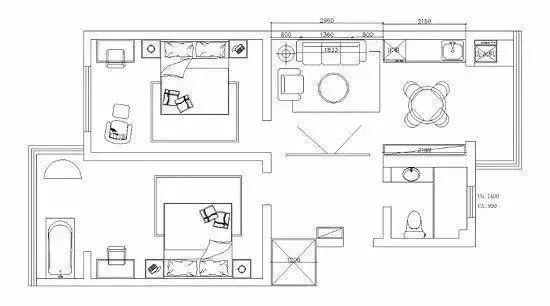 #两居室#轻奢漂亮、有品位,太让人心动!,85平两居室