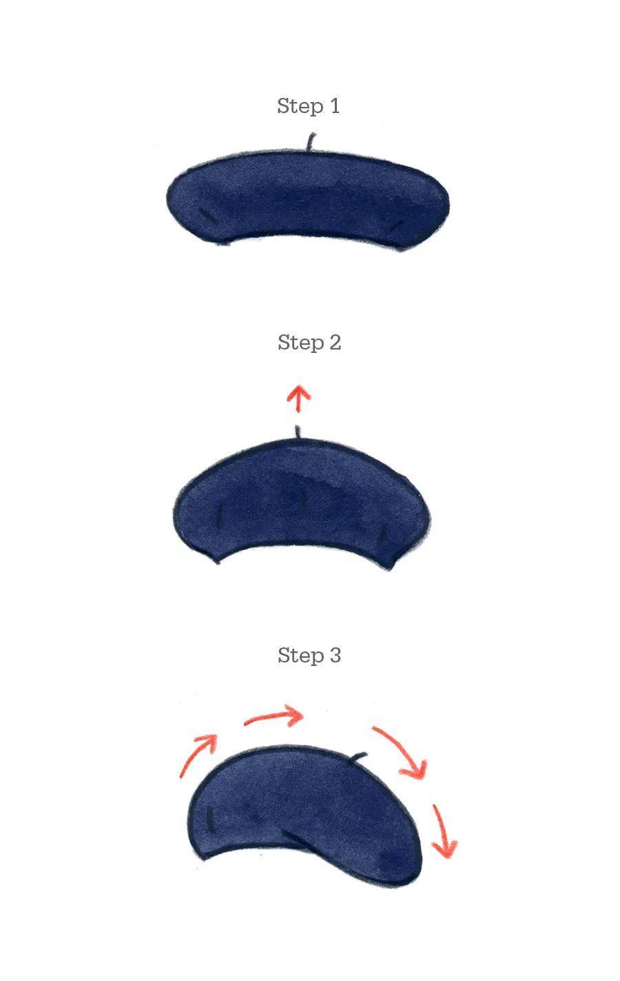 贝雷帽佩戴方法不会掉图片