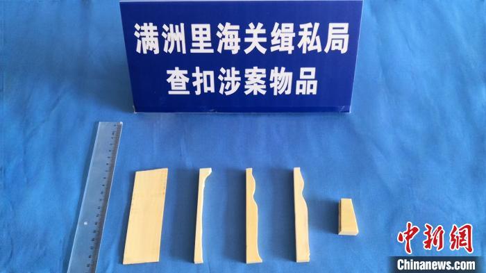 满洲里海关查获一起日本非法邮寄至中国象牙案