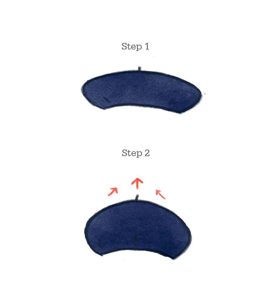 贝雷帽的戴法图片
