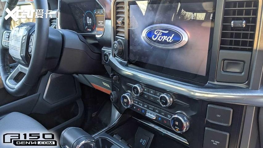 新款福特F-150内饰外露,全新设计,科技感提升