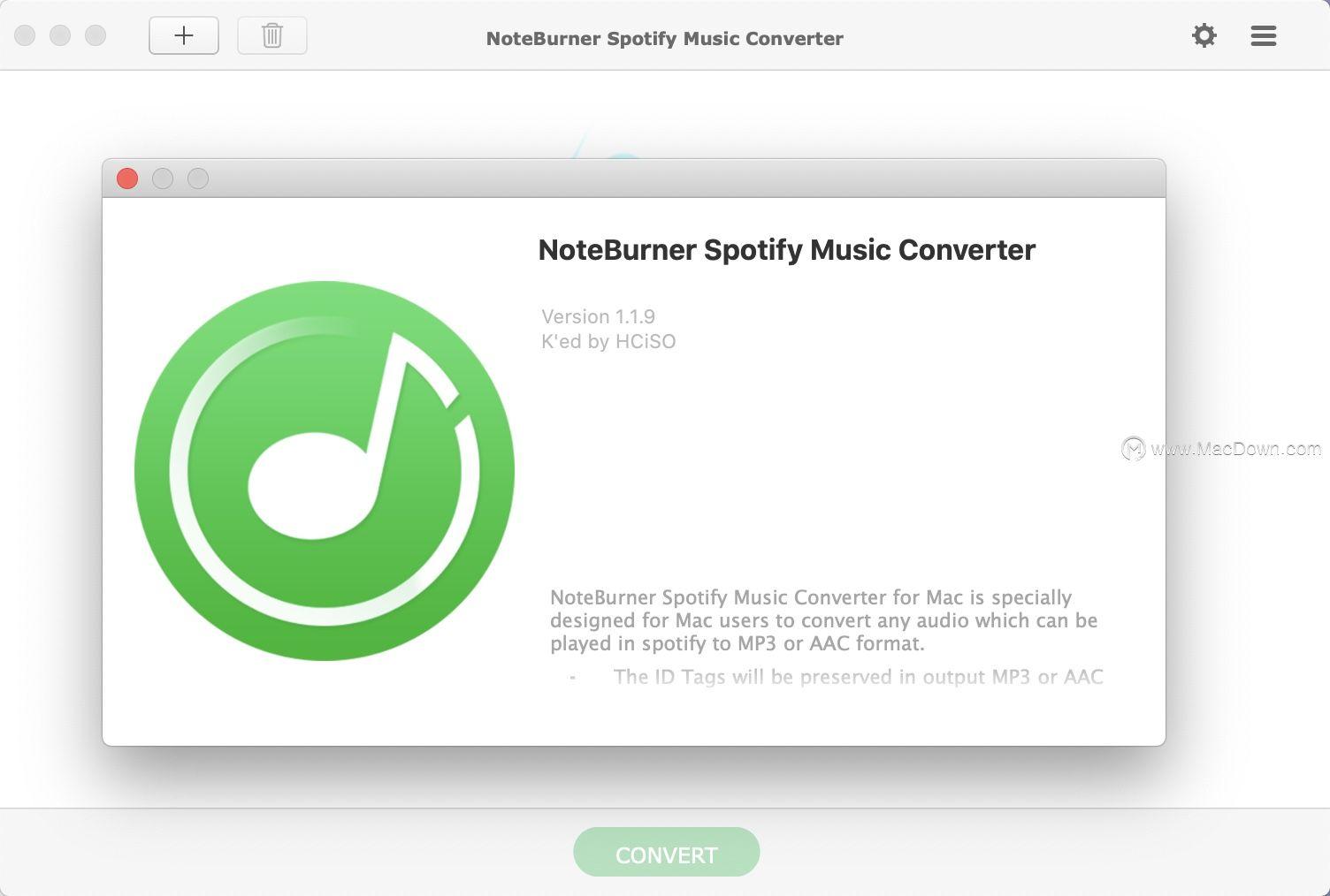 Noteburner Spotify音乐转换器Mac(音频转换器)v1.1.9
