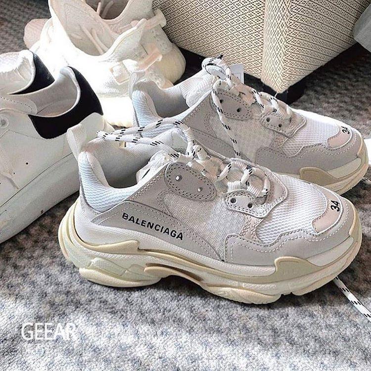 原创             潮人与时髦博主最爱:巴黎世家经典老爹鞋推出纯白配色!