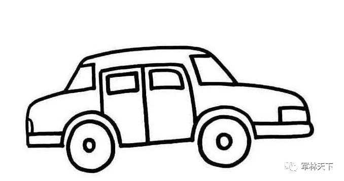 儿童小轿车简笔画图片分享